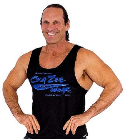 312R Black Tank Tops With Large Blue Crazee Wear Logo