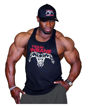 312R Black Fitted Tank Top W/ Red Train Insane/White Superhero