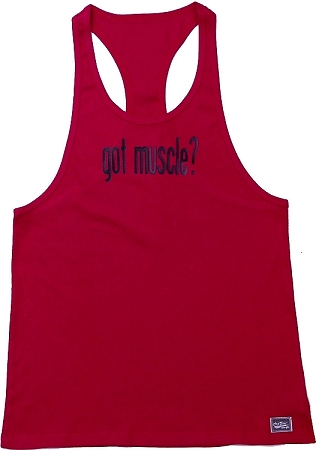 312R  RedTank Top with Got Muscle?