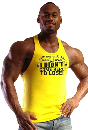 312R Yellow TankTop with I didn't come here to lose!  Clearance