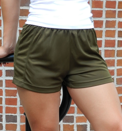 Style 900WS Micro blend olive relaxed fit training shorts