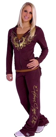 Style 200R Brown With California Crazee Wear down leg in gold Figure Pants   )