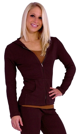 Style 800WH Brown Ladies Hoodie