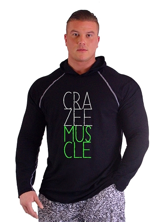 T-Shirt Pacific Hoodie Bllack Pacific Hoodie With CRAZEE MUSCLE