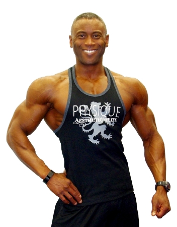Crazee Wear 312RC Black With Grey Rib  Fitted Tank Top With Physique Aesthetic/Grey Dragon Design