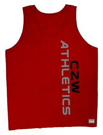 Style 350 New Red CZW Venice Tank Top With Black CZW And Grey Athletics