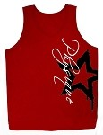 Style 350 New Red CZW Venice Tank Top With Black Star And White Physique