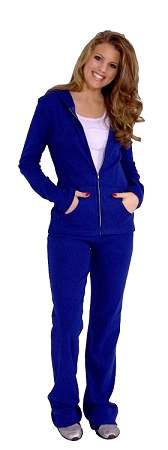 Style 200R Womens Cotton Soft And Comfortable Figure Pants In Blue