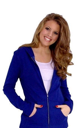 Style 800WH Royal Blue Ladies Hoodie