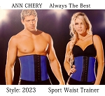 Ann Cherry Waist Trimmer (Blue/Black) Shorter Version