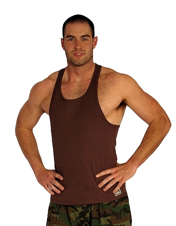 312R Brown Tank Tops