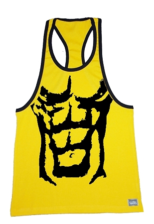 312R  Yellow With Black Trim Tank Top With Black Dream Physique