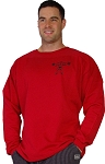 Style 444FT Red Sweat Shirt With Small Squating M.M. in black Top