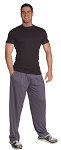 Style 500M  Charcoal Microfiber Baggy Pants