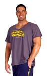 New Style 680V Charcoal Grey With Yellow Crazee Wear Logo, summer cool, light weight,  Relaxed Fit  V-Neck
