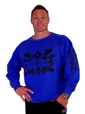 Style 444ft Blue Sweat Shirt With Eagle Tribal in Black