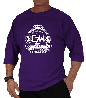 Style 444 3/4 Purple Relaxed Fit With CZW Crest Athletics
