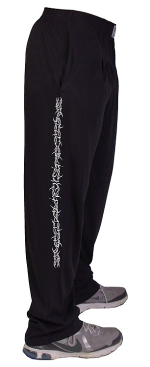 Style 500 Classic Black W/Barbwire in Grey Down Side Of Pants