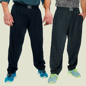 Style 500R Classic Charcoal Corduroy Winter Warm Baggy Pants