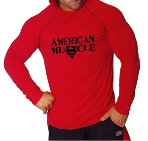 Shirt Pacific Fitted Hoodie Red/ Black Stitching For Men And Women ...
