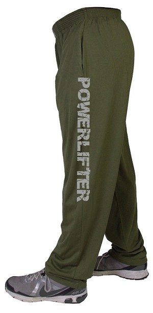 Style 500 Classic Solid Army Green Baggy Pants With Powerlifter Down Pants In White