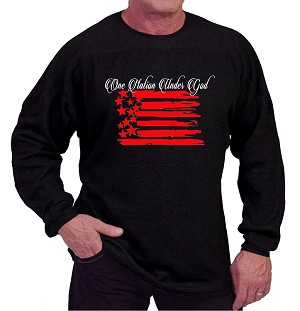 Style 444ft Black Sweat Shirt  With One Nation Under God