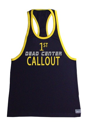 312R  Black Tank Top With Yellow Trim With 1st CALLOUT Graphics