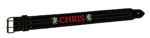 Crazee Workout Belts With Your Name Or Chris In Red