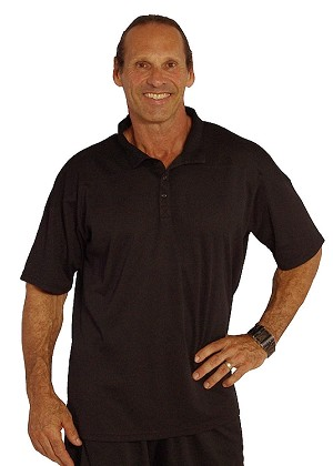 Black Microfiber Relaxed Fit With Shoulder Cut Polo Shirt