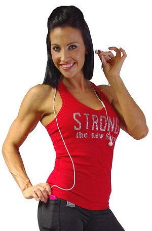 Style 340 Red Stretch Rib Racerback Tank Top With Strong The New Sexy In Sparkles