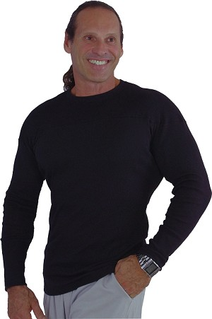Style 400RL Black Stretch Rib Tapered to Waist Malibu Top With Versa Crazee Barbell Clearance