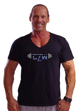 New Style 680V Black, summer cool, light weight,  Relaxed Fit  V-Neck With Versa CZW Barbell Blue