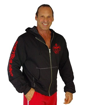 Mens Hoodie  With Red Bodybuilding Graphics Clearance