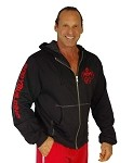 Mens Hoodie  With Red Bodybuilding Graphics