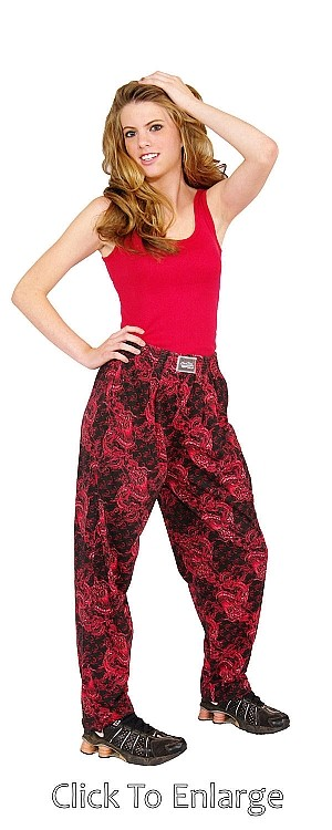 Style 500 Classic Red Dragon Baggy Pants