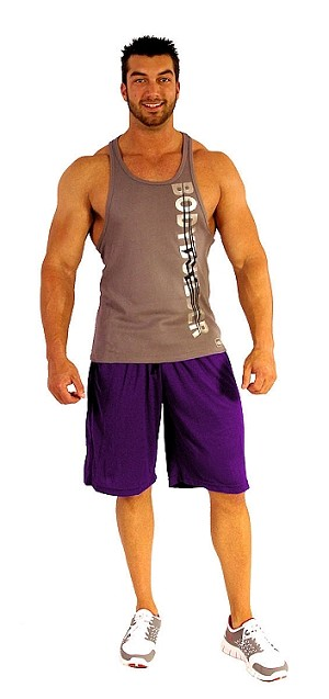 Style 600MS Micro blend purple training shorts