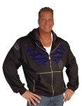 Crazee Mens Hoodie Blackl  With Shock And Awe Design In Blue