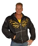 Mens Hoodie With Shock And Awe Yellow