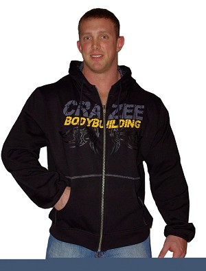 Mens Hoodie with graphics and Bodybuilding in Yellow