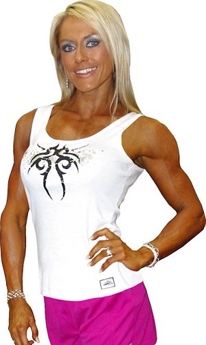 315 Wht Tank Top W/spiral tatoo and silver splash