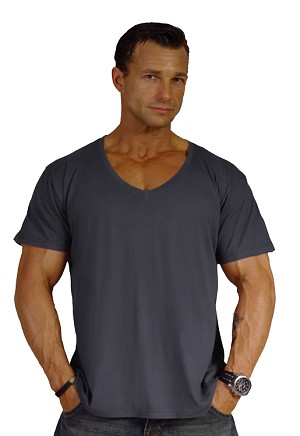 New Style 680V Charcoal Grey, summer cool, light weight,  Relaxed Fit  V-Neck
