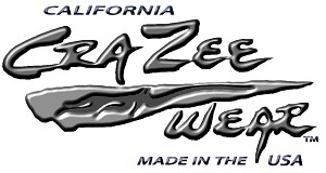 Crazee Wear Design Stickers (Decals)Versa Crazee Wear Liquid Silver Logo