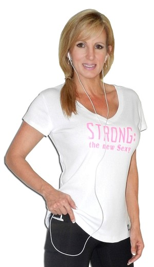 Fitted V Neck White Top With Pink Strong:The New Sexy