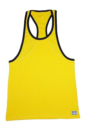 312R  Yellow With Black Trim Tank Top