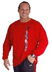 Style 444FT Red Sweat Shirt with White Tribal/Black Crazee Wear  Top