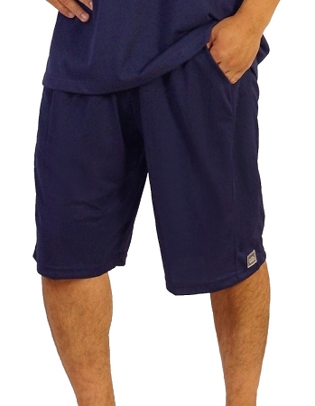 Style 600MS Navy Micro blend training shorts