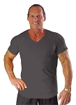 New Style 670V Charcoal, summer cool, light , Fitted V-Neck