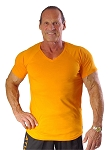New Style 670V Orange, summer cool, light , Fitted V-Neck