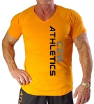 New Style 670V Orange, summer cool, light , Fitted V-Neck With CZW ATHLETICS Design