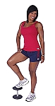 Style 900WS Navy Micro blend  relaxed fit training shorts W/Red Curl